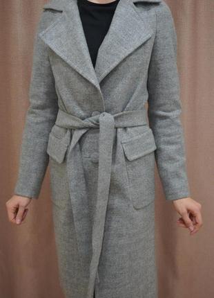 Пальто-халат (63% шерсті)