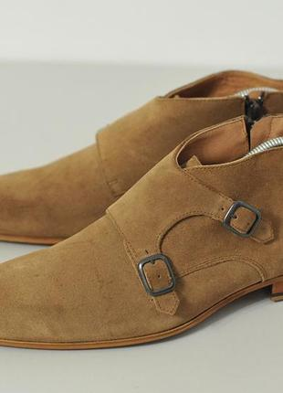 Замшеві черевики монки челсі чукка zign - 43 - 28 см