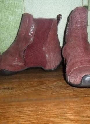 Ботинки puma, натур. кожа