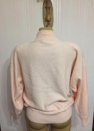 Нежный свитер,расшитый жемчужина5 фото