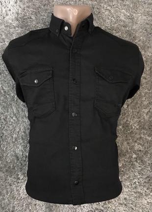 Рубашка,черная рубашка,джинсовая рубашка