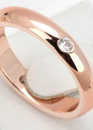 Позолоченное кольцо женское с цирконами код 8871 фото