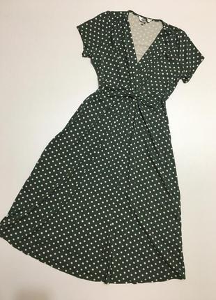 Сукня міді платье горох р81 фото