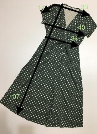 Сукня міді платье горох р87 фото