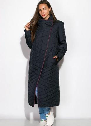Новый стильный теплый удлинённый объёмный пуховик пальто длина макси