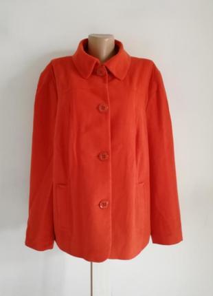 🍁шикарный шерстяной пиджак, пальто терракотового цвета 🍁шерсть, ангора🍁винтажное пальто