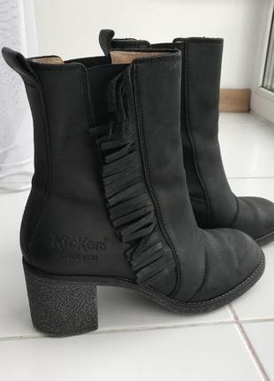 Полностью кожаные ботинки kickers