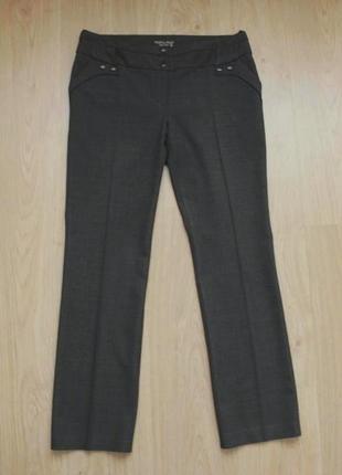 Брюки штаны maryland классические офисные прямые полушерстяные с поясом р. 40