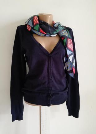 🌹 классический чёрно-синий кардиган🌹 пуловер 🌹 вискоза