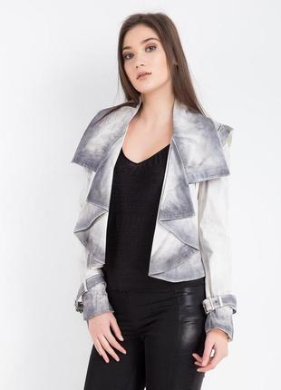 Женская кожаная куртка balizza размер 38