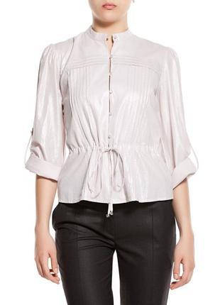 Фирменный ярко-бело-серебристый пиджак balizza размер 42 l-xl