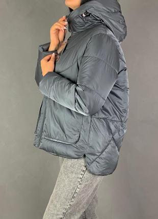 Куртка объемная оверсайз пуховик био пух