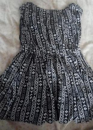 Платье туника орнамент принт геометрический