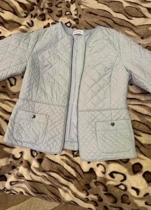 Куртка пиджак ветровка голубая женская классическая