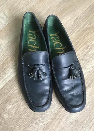 Якісні шкіряні італійські туфлі туфли лофери лоферы с кисточками ,fratelli rossetti