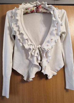 Кофта- свитер с рюшами