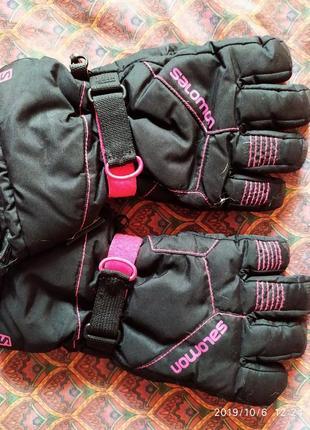 Термо-перчатки, краги salomon,gore-tex (france),l