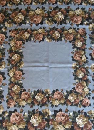 Большой платок - цветочный принт