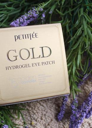 Petitfee гидрогелевые патчи для кожи вокруг глаз и носогубок gold hydrogel eye patch