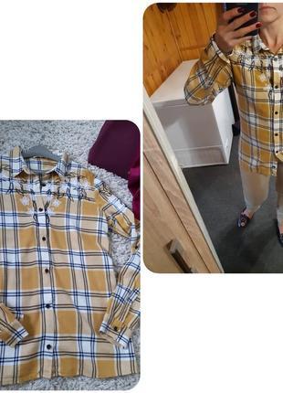 Стильная рубашка клетка/вышивка, tally weijl, p. 38-40