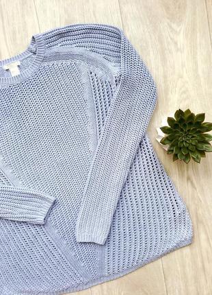Нежный голубой свитер h&m размер xs-s