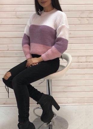 Светр свитер вязаный теплый