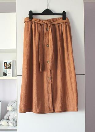 Бежевая миди юбка от george