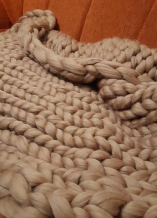 Супер популярный тёплый плед из шерсти мериноса