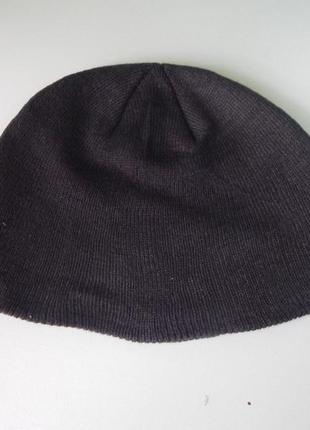 Черная вязанная  шапка сток америка