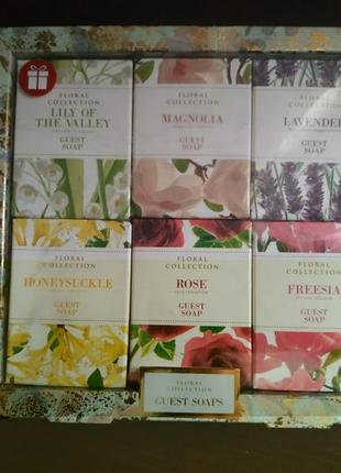 Шикарный набор мыла m&s floral collection guest soaps