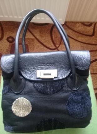 Брендовая крутая сумочка liz cox кожа текстиль