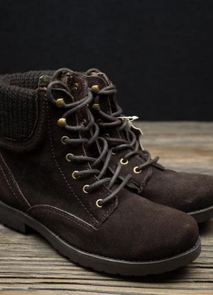 Женские демисезонные замшевые ботинки ixxo р-37