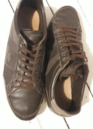 Кожаные кроссовки оригинал lacoste 44.5