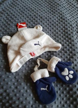 Набір шапочка + рукавички
