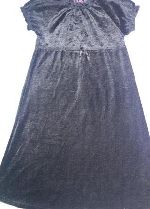 Бархатное платье 8-10 лет