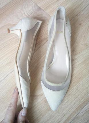 Туфли из натур.замши bata