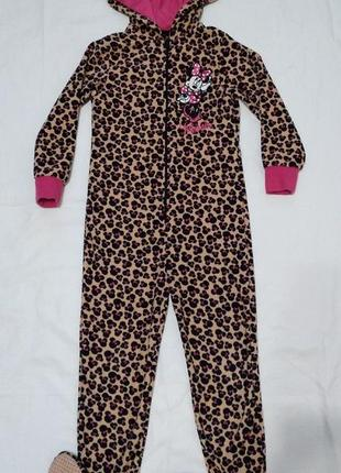 Флисовый человечек слип пижама кегуруми 6-7 лет