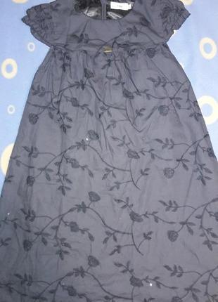 Серое платье 134 см