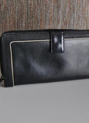 Кожаный кошелек debenhams / шкіряний гаманець