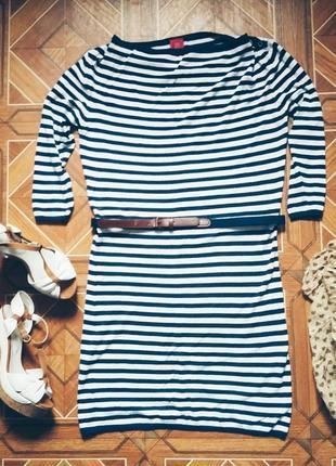Полосатое платье tiffi размер м