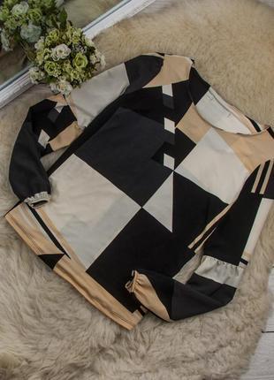 Очень стильная блуза в геометрический принт от next рр 16 наш 50