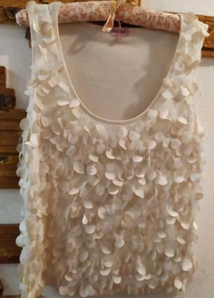 Оригинальная нюдовая блуза 100% вискоза
