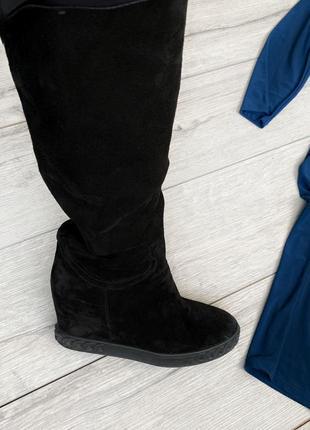 Сапоги кожаные женские, чоботи  casadei оригінал нат. зам