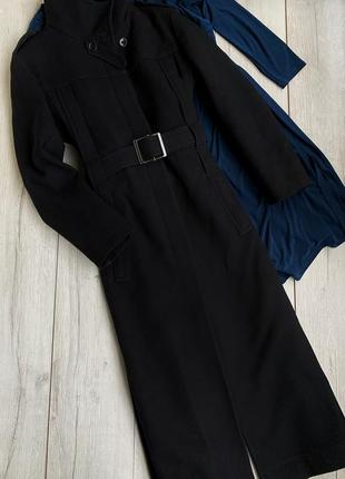Шерстяное классическое пальто на утепленной подкладке gianfranco ferre