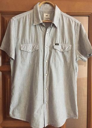 """Мужская рубашка с коротким рукавом """"lee """"."""