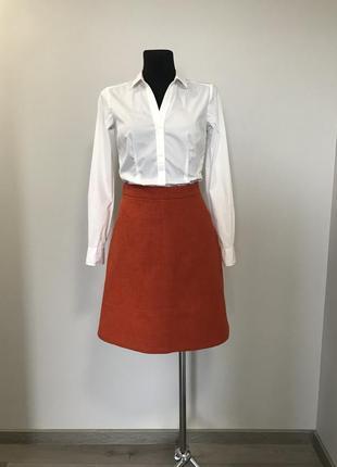 Теплая яркая юбка трапеция_в составе шерсть