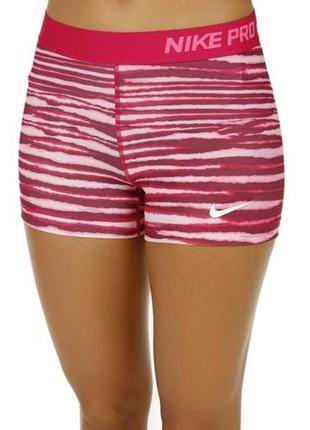 """8 с 36 модные малиновые короткие шорты nike pro 3"""" tiger short women. оригинал"""