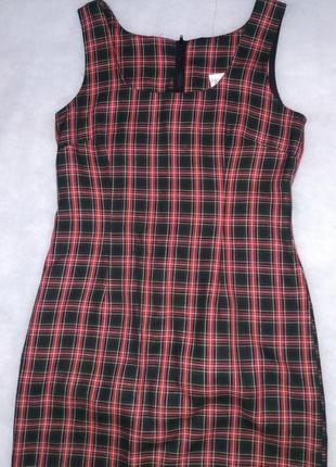 Платье  шотландская клетка