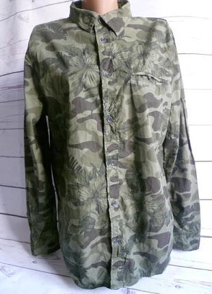 Рубашка в стиле милитари, камуфляж,военная  divided