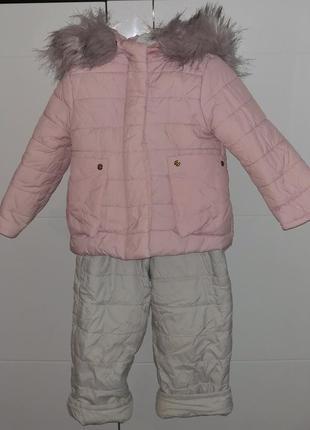 Зимний комбинезон для девочки , на 1-2 года , по бирке 92 размер